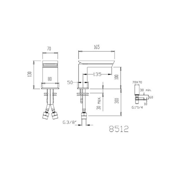 miscelatore lavabo razor fromac 8512