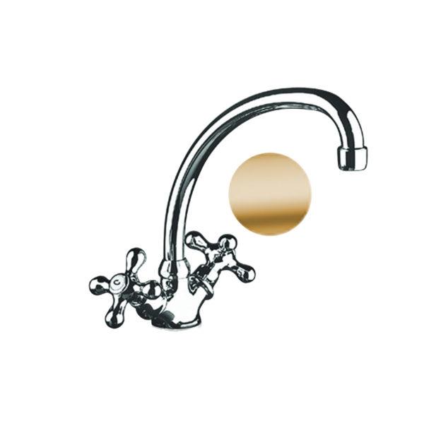 rubinetto lavello cucina fromac bronzo